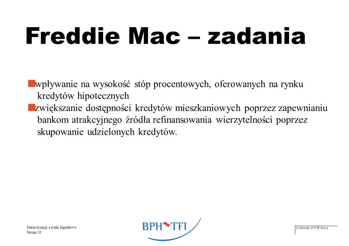 A Member of HVB Group Sekurytyzacja a rynki kapitałowe Strona 17 Świat w liczbach...