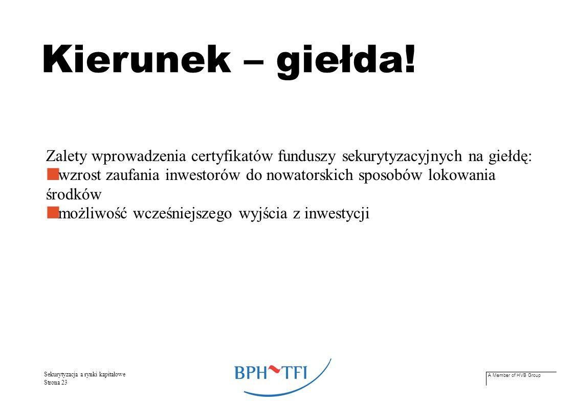 A Member of HVB Group Sekurytyzacja a rynki kapitałowe Strona 24 Perspektywy.