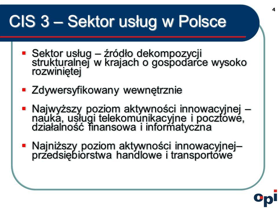 5 CIS 3 – Sektor usług w Polsce  Własność przedsiębiorstw  Wielkość przedsiębiorstw  Własność przedsiębiorstw  Wielkość przedsiębiorstw