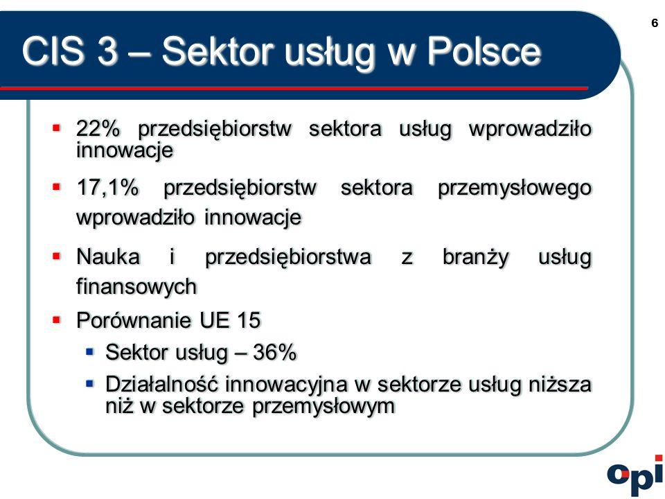 7 Innowacyjność przedsiębiorstw według województw WyszczególnienieUdział przedsiębiorstw innowacyjnych w % przedsiębiorstw ogółem P o l s k a 22,0 Dolnośląskie 20,3 Kujawsko-pomorskie 22,0 Lubelskie 19,6 Lubuskie.