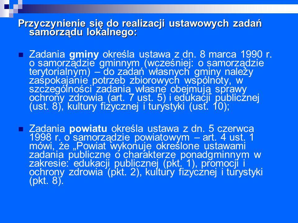 """Policy paper dla ochrony zdrowia na lata 2014 – 2020 Krajowe ramy strategiczne """"…w Polsce odnotowuje się deficyt finansowania działań profilaktycznych, nie tylko służących zwiększeniu dostępu do badań diagnostycznych, ale również mających na celu podniesienie wiedzy społeczeństwa w zakresie chorobotwórczych czynników ryzyka i zdrowego stylu życia """"Niemniej jednak działania podejmowane przez samorządy bardzo często nie mają charakteru stałego (są głównie akcyjne) i z uwagi na niedobór środków finansowych odbywają się na ograniczoną skalę"""
