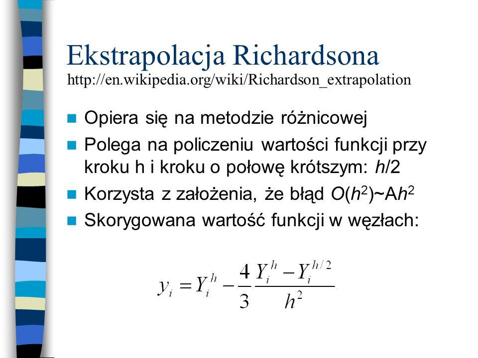 Metody matematyczne w Inżynierii Chemicznej INTERPOLACJA