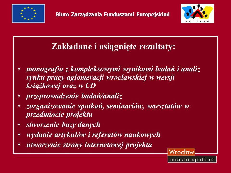 13 Biuro Zarządzania Funduszami Europejskimi ProjektWANT2LEARN – Chcę się uczyć Temat A - Promowanie rynku pracy otwartego dla wszystkich Projekt realizowany w ramach programu operacyjnego – Program Inicjatywy Wspólnotowej EQUAL dla Polski 2004-2006