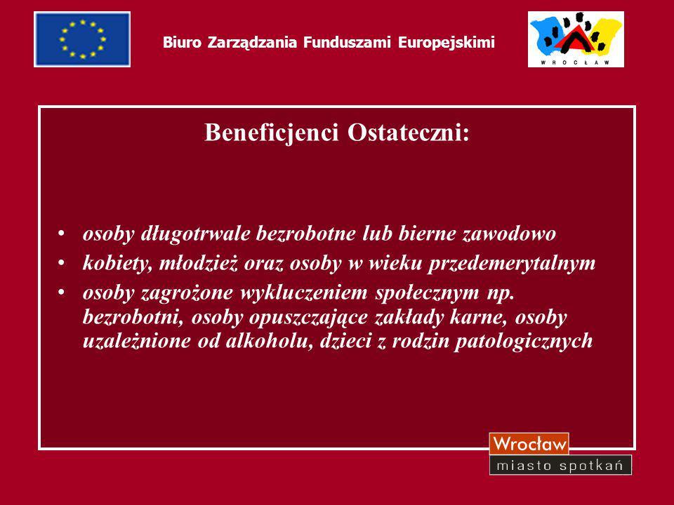 17 Biuro Zarządzania Funduszami Europejskimi Cel projektu : promowanie innowacyjnych rozwiązań prowadzących do zwalczania wszelkich form dyskryminacji i nierówności związanych z rynkiem pracy