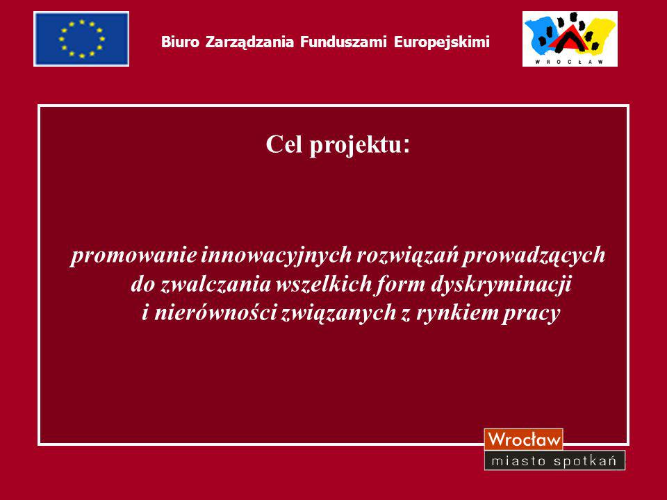 18 Biuro Zarządzania Funduszami Europejskimi Dotychczasowe osiągnięcia: rozliczenie i zakończenie Działania 1 utworzenie Partnerstwa Na Rzecz Rozwoju podpisanie Umowy o dofinansowanie Działania 2 rozpoczęto rekrutację beneficjentów ostatecznych, która ma wyłonić grupę docelową (160 osób) – zakończenie rekrutacji październik 2006r