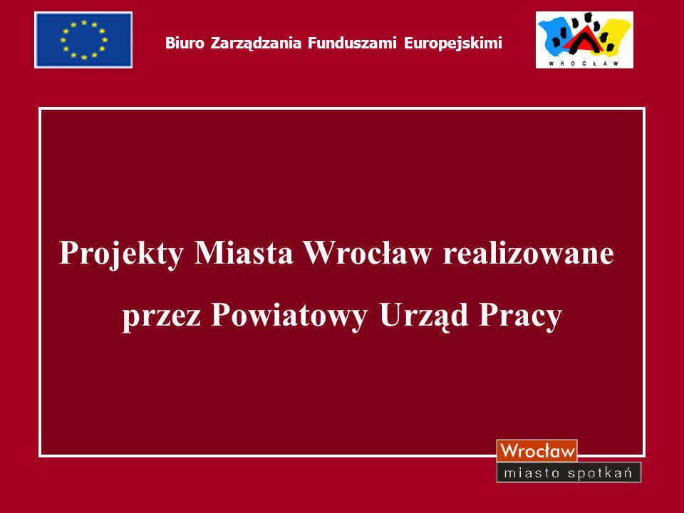 34 Biuro Zarządzania Funduszami Europejskimi Projekty Miasta Wrocław realizowane przez Powiatowy Urząd Pracy Nazwa zadania Kwota dofinan.