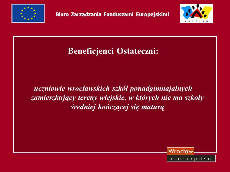 5 Biuro Zarządzania Funduszami Europejskimi Założenia projektu: zwiększenie dostępu młodzieży wiejskiej do placówek oświatowych o wyższym poziomie edukacyjnym oraz zaciśnięcie współpracy jednostek samorządu terytorialnego na rzecz promowania pełnego wykształcenia średniego oraz wyższego