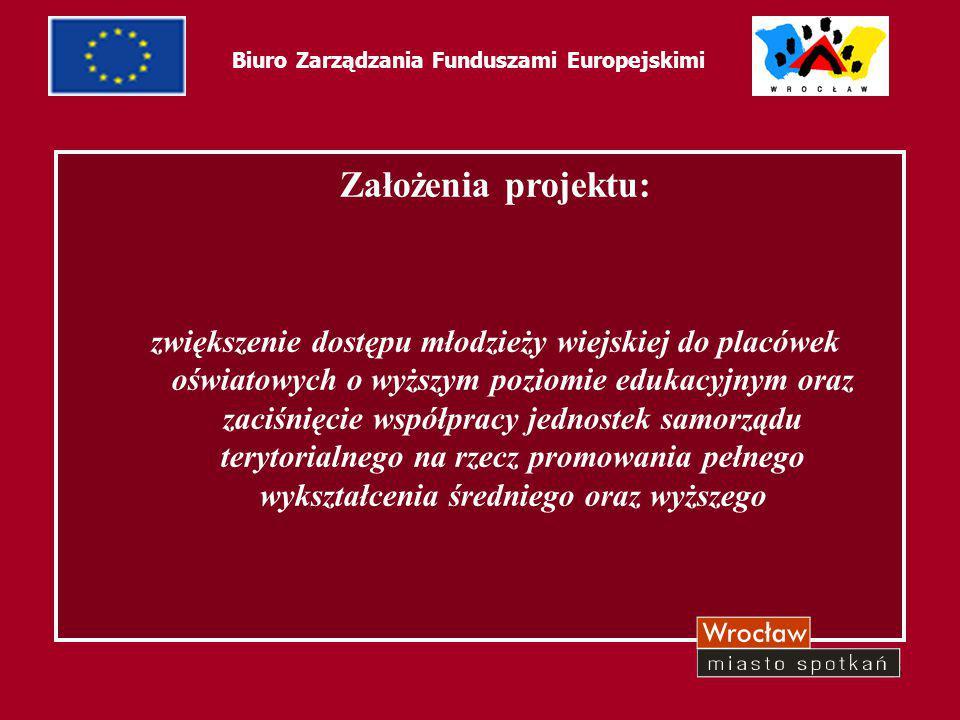 6 Biuro Zarządzania Funduszami Europejskimi Problemy związane z realizacją projektów: w początkowej fazie realizacji projektu 2004/05 brak jednoznacznych wytycznych i ich interpretacji na temat: kosztów kwalifikowanych beneficjentów ostatecznych oraz okresu ich kwalifikowalności formy przedkładania załączników do wniosku beneficjenta o płatność komunikatywności pomiędzy instytucjami wdrażającymi projekty