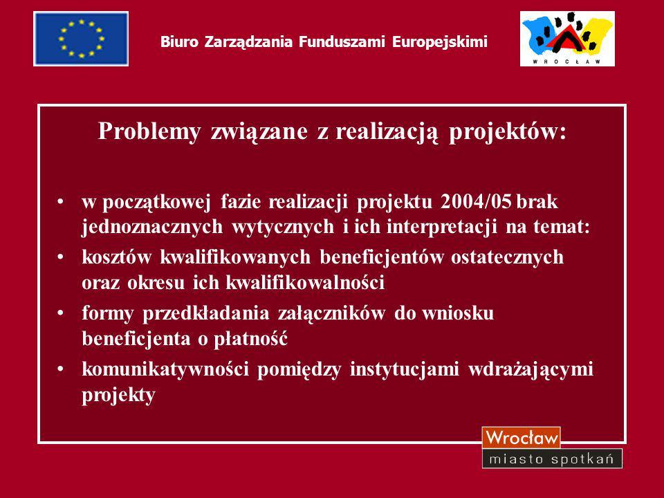 7 Biuro Zarządzania Funduszami Europejskimi Ewaluacja projektu: większa kwota dofinansowania projektu stypendialnego w 2005/06 zwiększona kwota przyznanego stypendium projektu stypendialnego 2005/06 uproszczone procedury wdrażania projektu stypendialnego 2005/06 forma zaliczkowego przekazywania stypendium beneficjentom ostatecznym w projekcie stypendialnym 2005/06