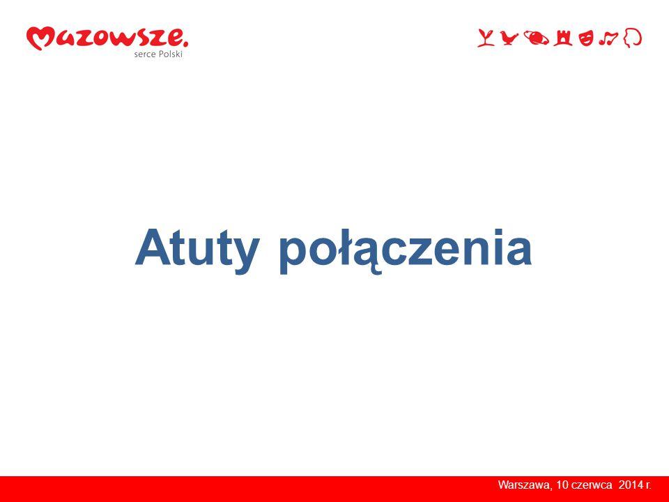 Warszawa, kwiecień 2014 r.jeden duży, silniejszy podmiot Warszawa, 10 czerwca 2014 r.