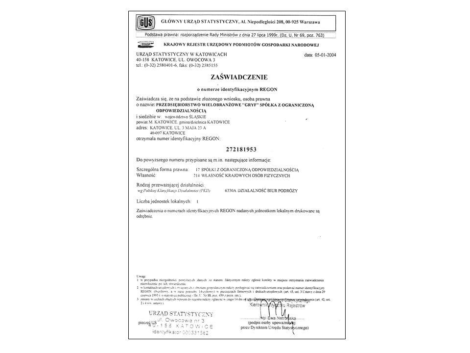 KROK 3 - Konto bankowe Zgodnie z wymogami Ustawy z dnia 2 lipca 2004 r.