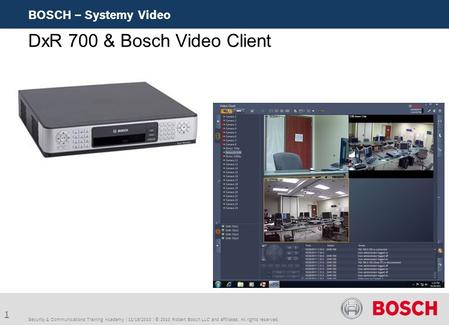DxR 700 & Bosch Video Client