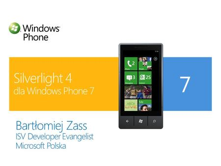Silverlight 4 dla Windows Phone 7