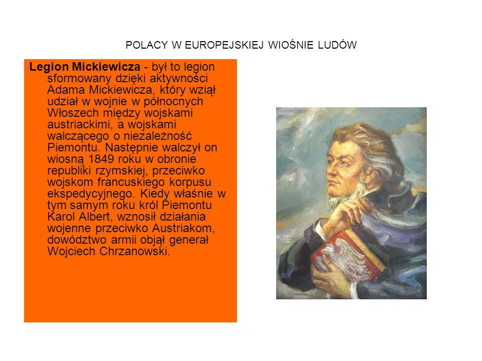 POLACY W EUROPEJSKIEJ WIOŚNIE LUDÓW W walce w Wiedniu i w powstaniu na Węgrzech - Polacy walczyli także w rewolucji wiedeńskiej.