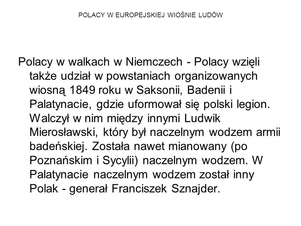 POLACY W EUROPEJSKIEJ WIOŚNIE LUDÓW Zjazd słowiański w Pradze -Polacy wzięli też udział w tym zjeździe, którego idea narodziła się już w kwietniu 1848 roku.