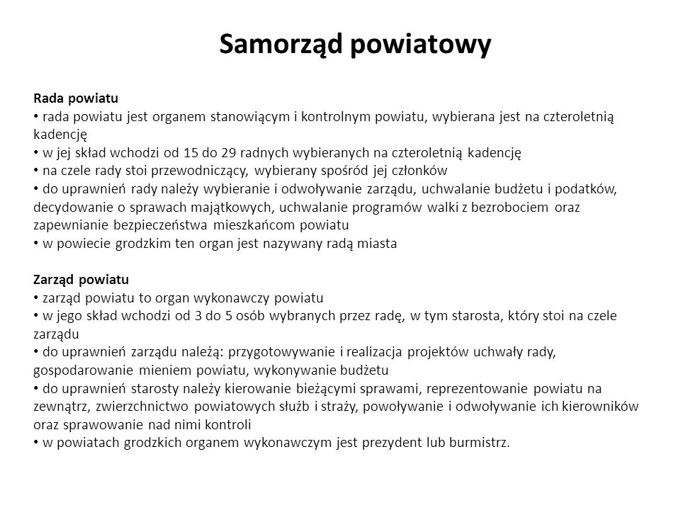 Samorząd wojewódzki Województwo to jednostka podziału terytorialnego oraz jednostka samorządu.