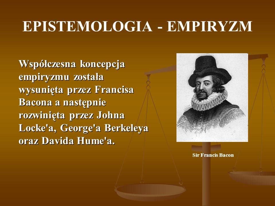 EPISTEMOLOGIA Pierwszym filozofem, który krytykował poznanie empiryczne był Heraklit: Złymi świadkami są oczy i uszy … Samo-naprawiający się talerz Wpatruj się w środek ilustracji.