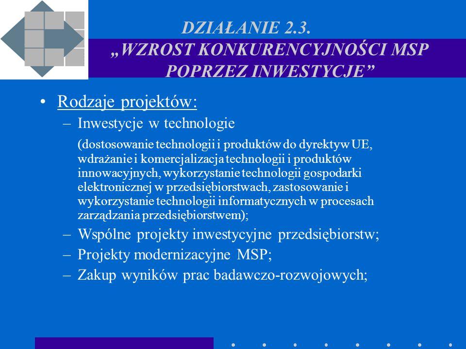 DODATKOWE INFORMACJE www.mpips.gov.pl/programy www.parp.gov.pl/regionalny