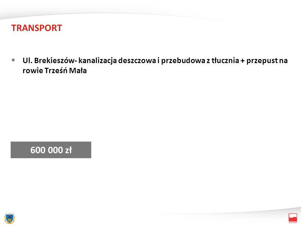 TRANSPORT Ul. Brata Alberta – od ul. Kingi – Wyszyńskiego – nawierzchnia 600 000 zł