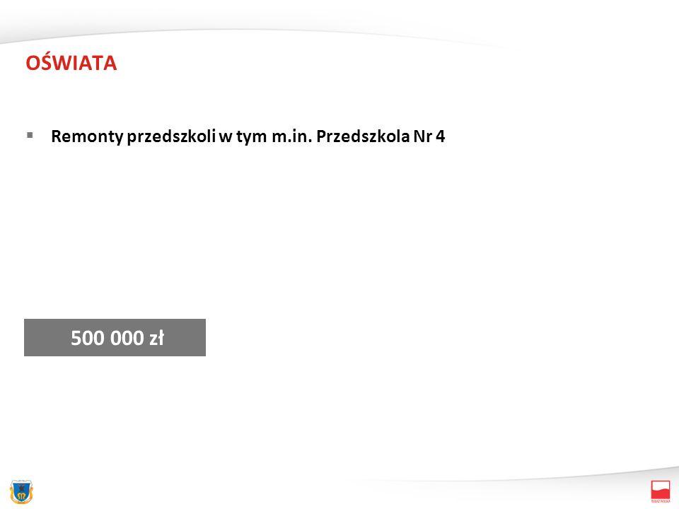 OŚWIATA Zakupy inwestycyjne – przedszkola 90 000 zł