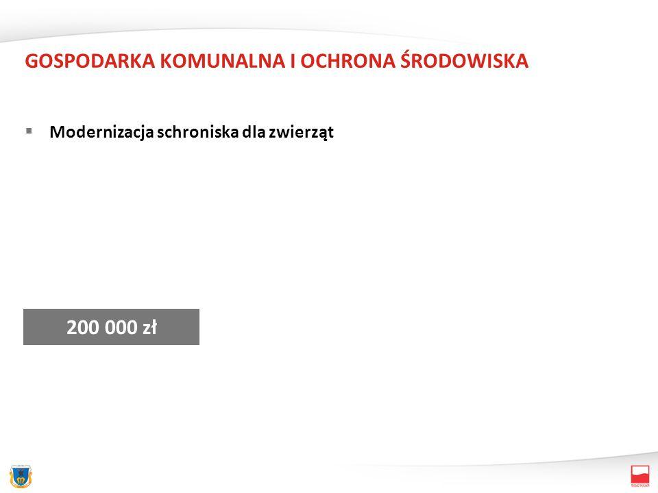 GOSPODARKA KOMUNALNA I OCHRONA ŚRODOWISKA Oświetlenie ulic (w tym m.in.