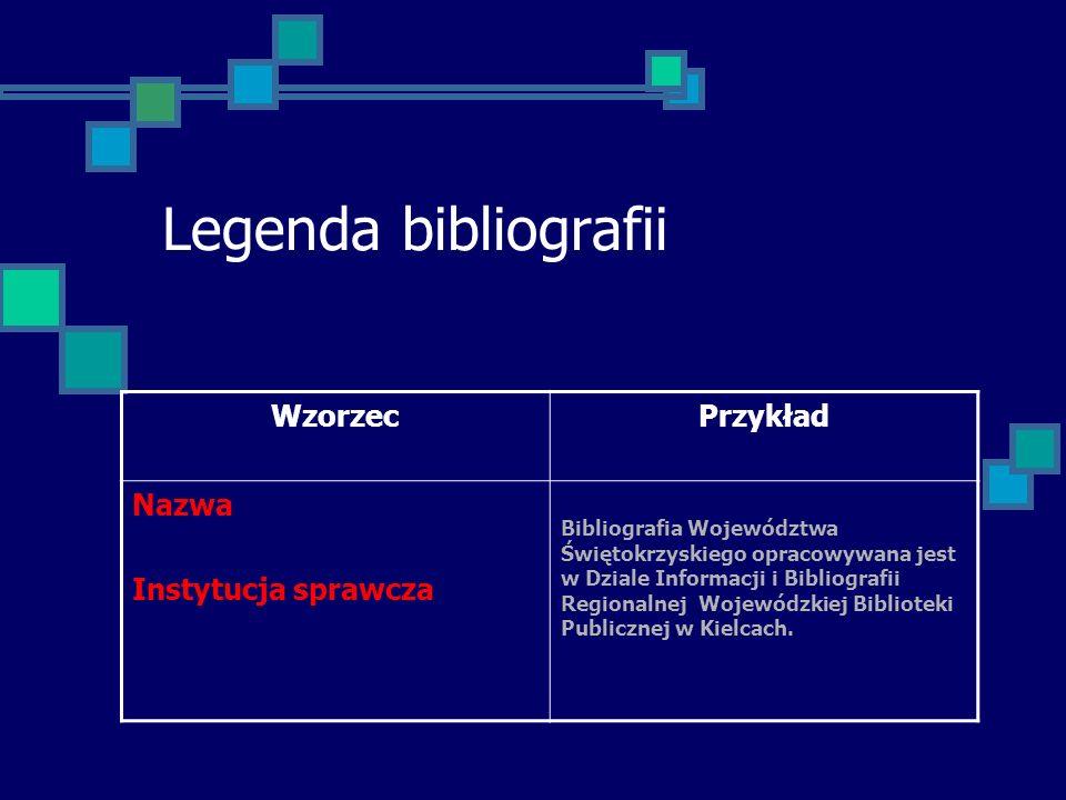 Legenda bibliografii cd.