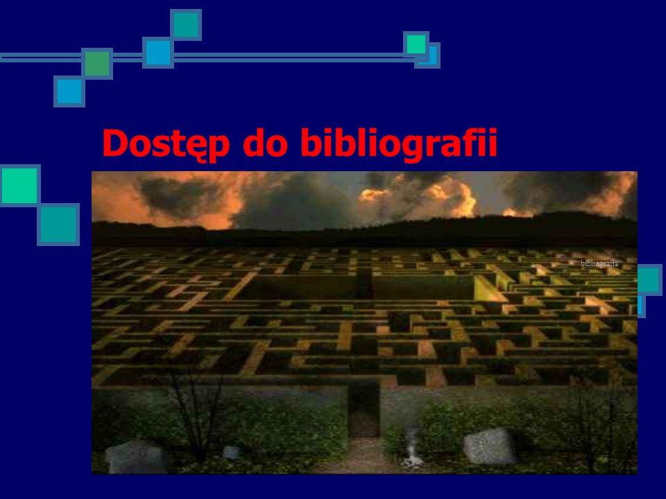 Legenda Prawie połowa bibliotek nie umieściła żadnej informacji o bibliografii.