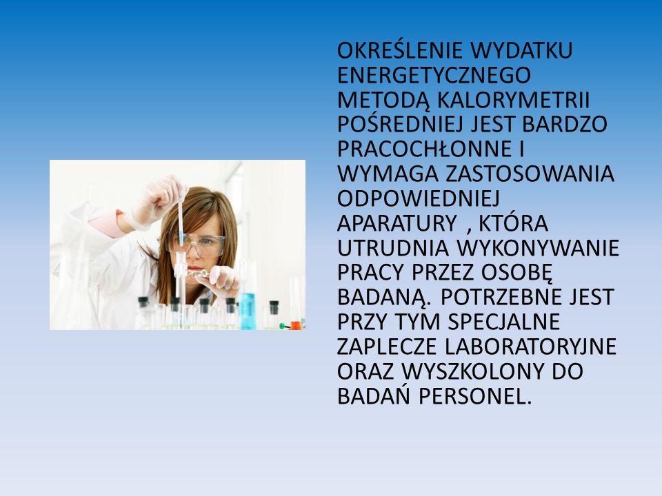 METODA CHRONOMETRAŻOWO-TABELARYCZNA OCENY WYDATKU ENERGII ORAZ UPROSZCZONA WEDŁUG LEHMANNA Przy braku warunków do zastosowania metody kolorymetrii pośredniej można wykonać mniej dokładne metody: METODA CHRONOMETRAŻOWO-TABELARYCZNA METODA UPROSZCZONA WG LEHMANNA