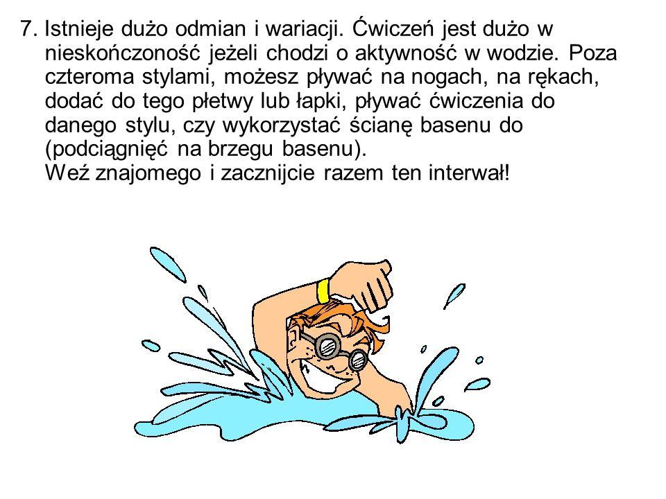 8.Pływanie może być alternatywą dla innych treningów.