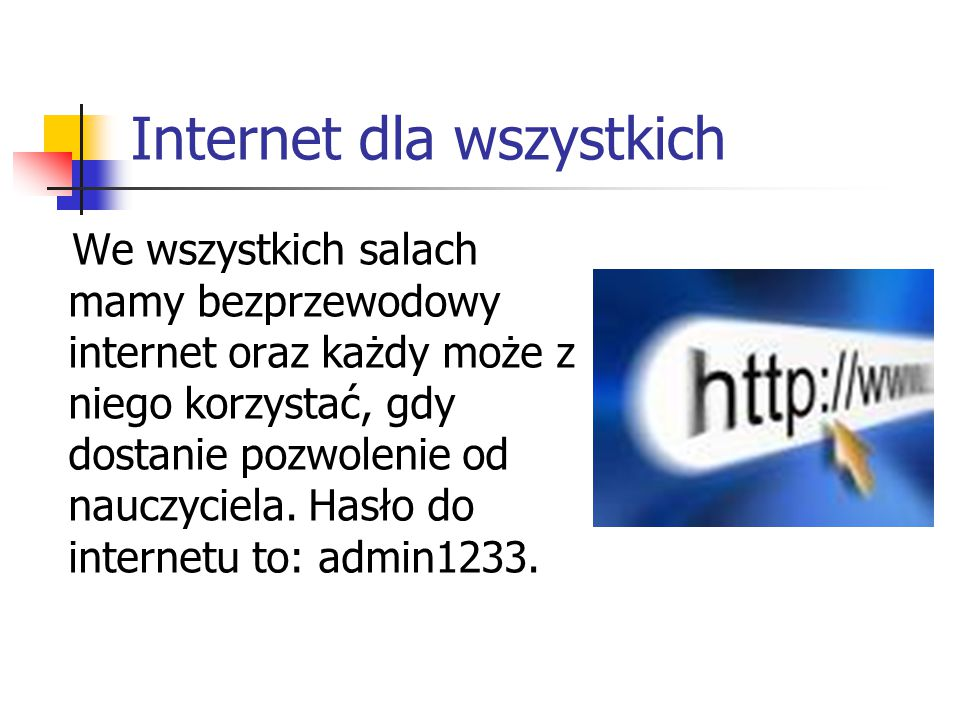 Rozrywka na szkolnych komputerach… Dostęp do gier oraz popularnych portali społecznościowych powinien być zablokowany do godziny 13, aby uczniowie korzystający na lekcjach z internetu mieli do niego lepszy dostęp.