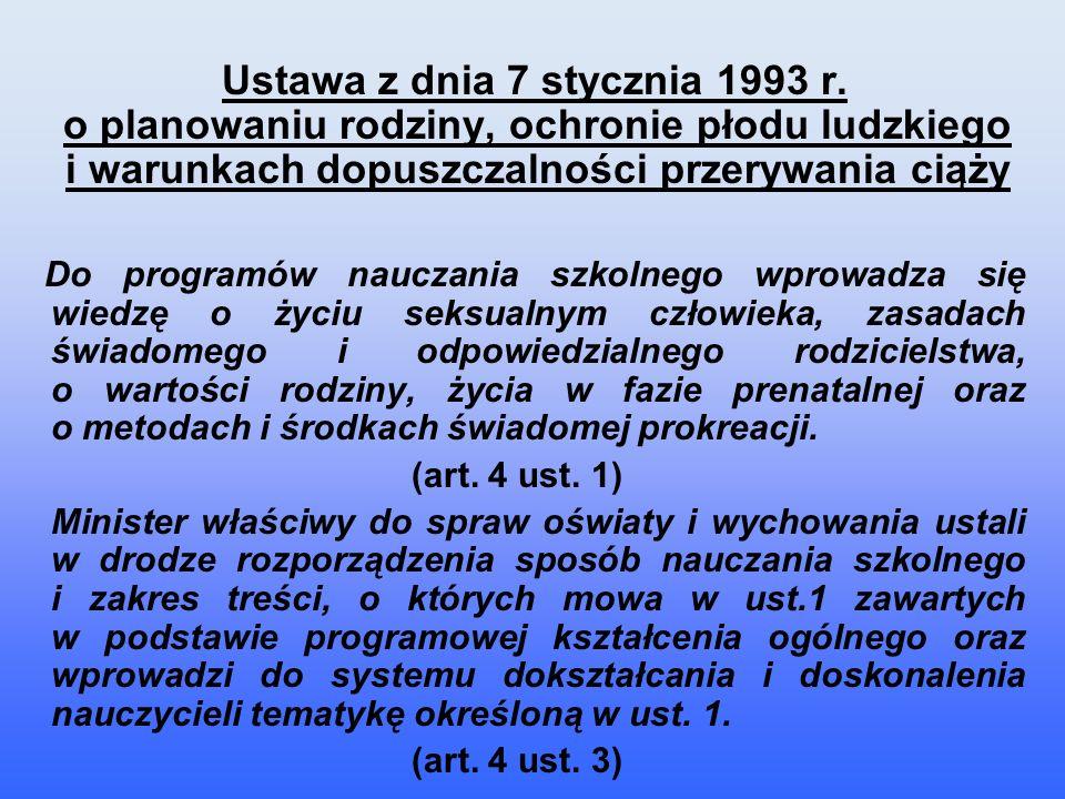 ROZPORZĄDZENIE MINISTRA EDUKACJI NARODOWEJ z dnia 12 sierpnia 1999 r.