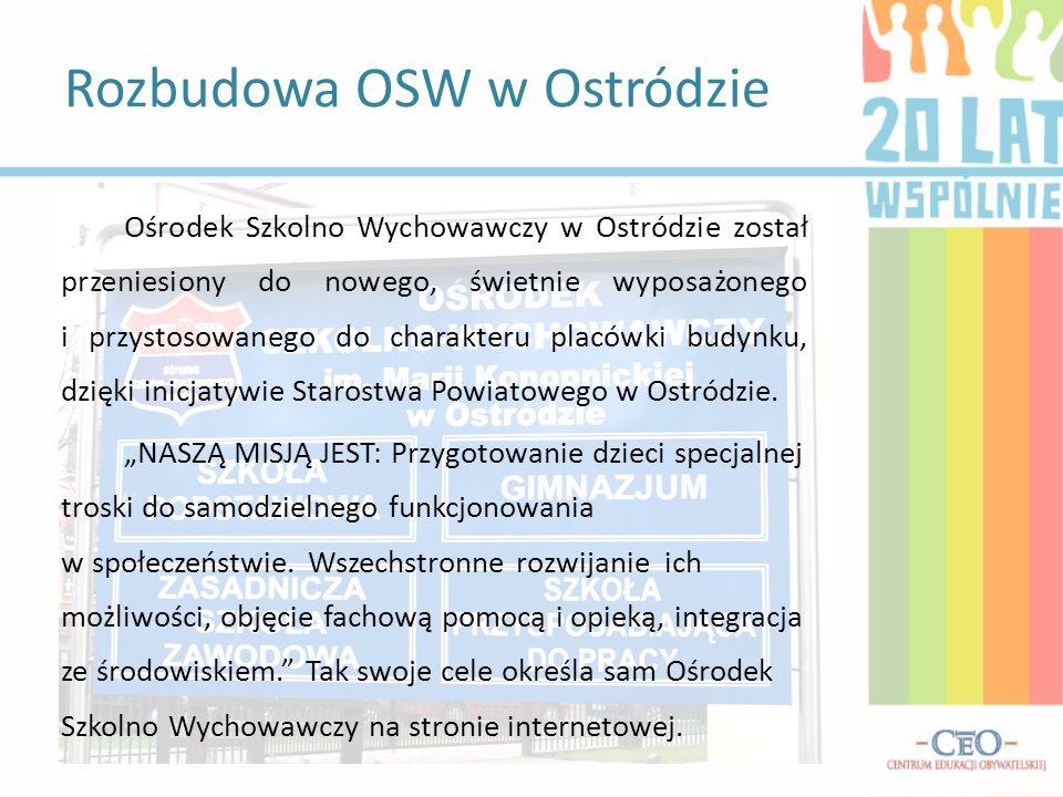 Nasza wcześniejsza siedziba miała około 900m 2, więc było tam bardzo ciasno – mówił nam pan Ryszard Kowalski, dyrektor OSW w Ostródzie.