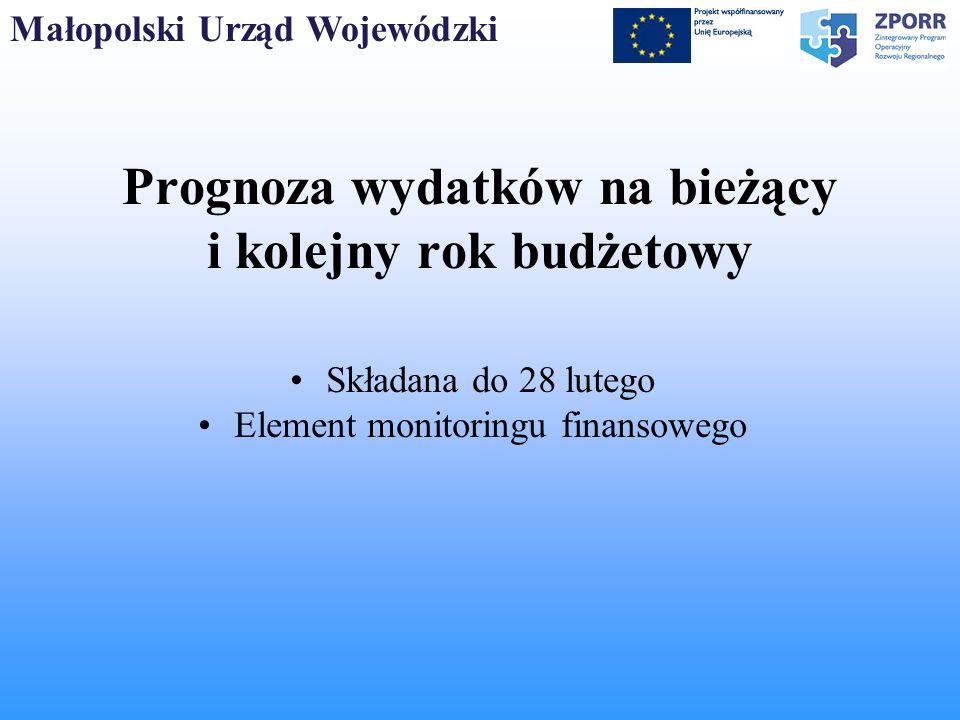 Małopolski Urząd Wojewódzki System sprawozdawczy sprawozdania Półroczne do 10 lipca 2007 do 10 stycznia 2008 r.