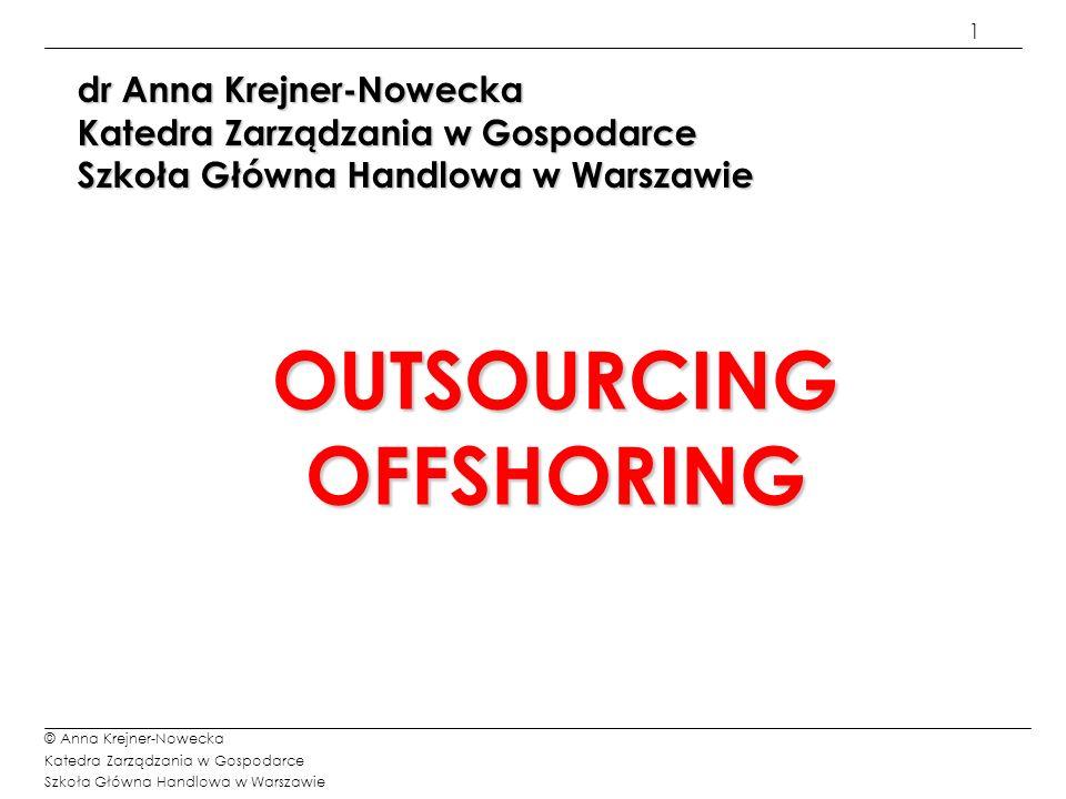 2 © Anna Krejner-Nowecka Katedra Zarządzania w Gospodarce Szkoła Główna Handlowa w Warszawie Definicja restrukturyzacji przedsiębiorstwa Restrukturyzacja przedsiębiorstwa jest to przedsięwzięcie polegające na przebudowaniu struktur przedsiębiorstwa w celu poprawy racjonalności i efektywności gospodarowania zasobami oraz czynnikami wytwórczymi.