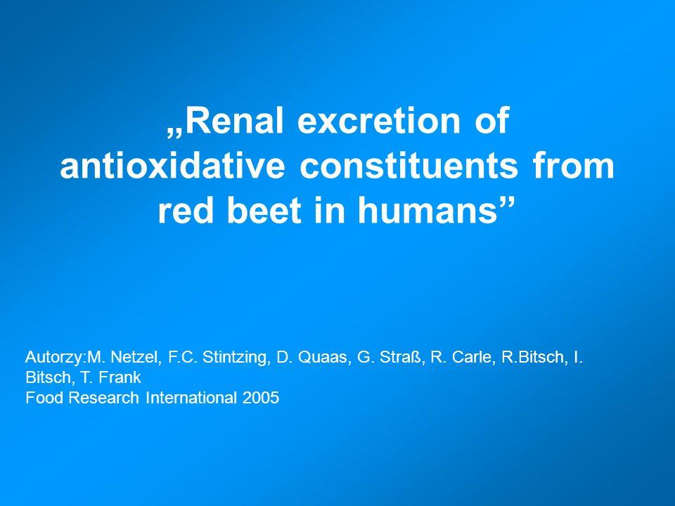 Celem badania jest określenie tempa i zasięgu absorpcji, eliminacji i względnej dostępności biologicznej betalain zawartych w czerwonym buraku i soku z czerwonego buraka.
