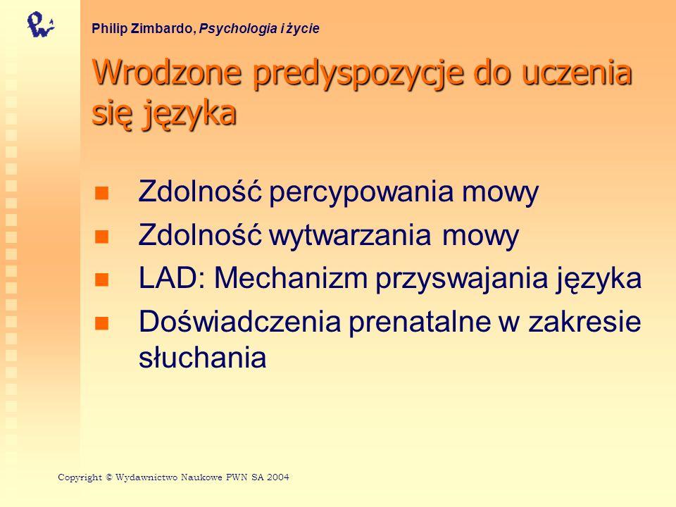 Poglądy Piageta na rozwój umysłowy Philip Zimbardo, Psychologia i życie Schematy Asymilacja i akomodacja Stadia rozwoju poznawczego Copyright © Wydawnictwo Naukowe PWN SA 2004