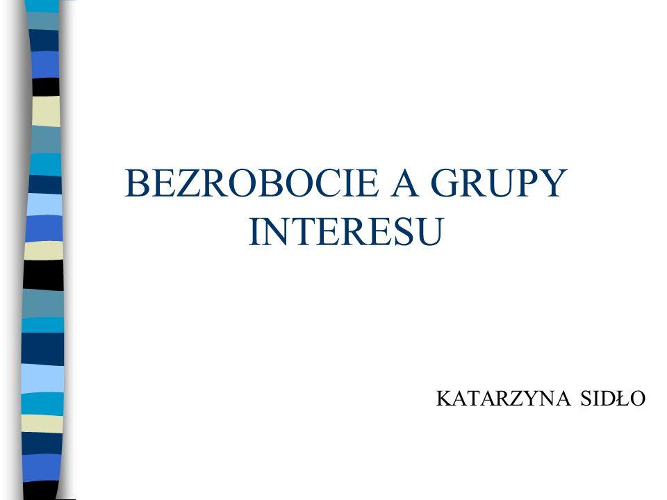 Plan prezentacji 1.Wstęp. 2. Definicja bezrobocia i grup interesu.