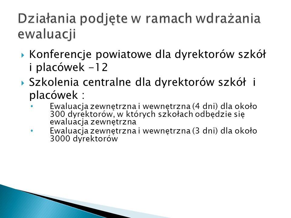 Warsztaty dla łączników regionalnych Seminarium wojewódzkie wizytatorów ds.