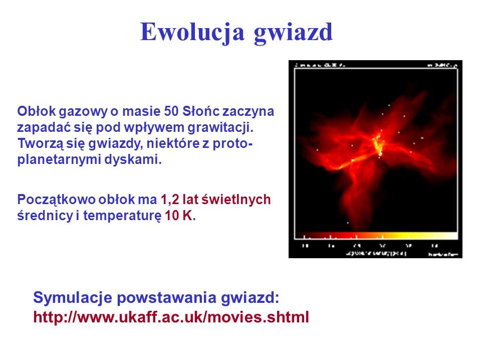 Ewolucja gwiazd masywnych Gwiazdy o masach większych niż 3 masy Słońca Nukleosynteza nie kończy się na węglu, jak dla gwiazd mniejszych.