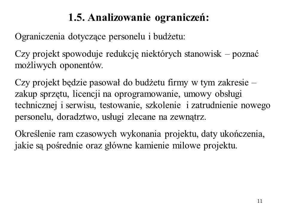 12 2.Analiza celów i kompromisów technicznych 2.1.