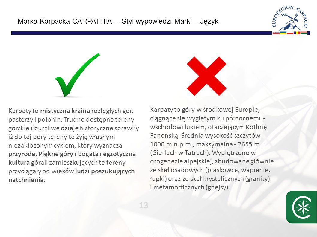 Marka Karpacka CARPATHIA – cechy przedsięwzięcia 14 Carpathia Projekt długoterminowy Carpathia Projekt partnerski Carpathia Koncept gospodarczy, biznesowy