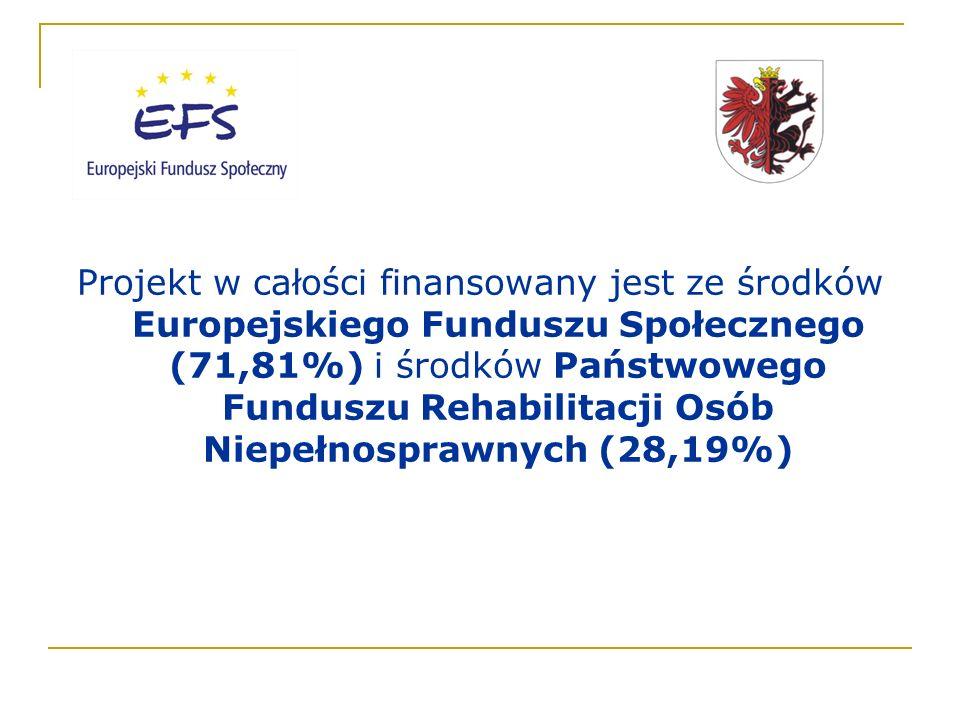 Informacje o projekcie: www.kujawsko-pomorskie.plwww.kujawsko-pomorskie.pl [podstrona: niepełnosprawni – realizowane projekty] lub tel.