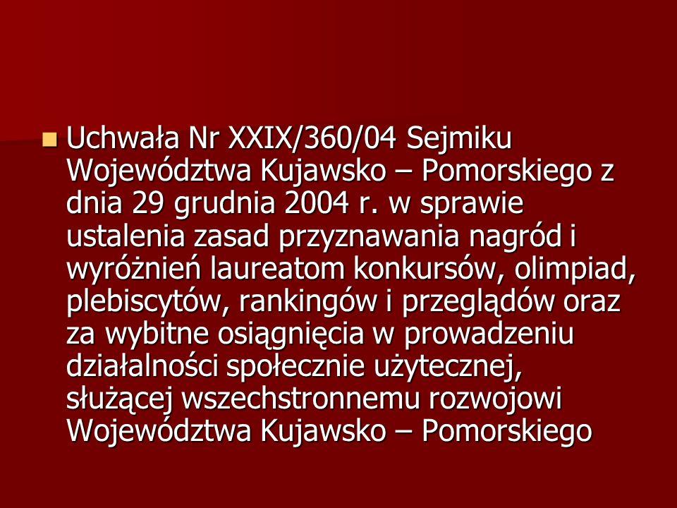 Wojewódzki program wyrównywania szans osób niepełnosprawnych i przeciwdziałania ich wykluczeniu społecznemu oraz pomocy w realizacji zadań na rzecz zatrudniania osób niepełnosprawnych przyjęty uchwałą nr XXIX/356/04 Sejmiku Województwa Kujawsko- Pomorskiego z dnia 29.12.2004 r.