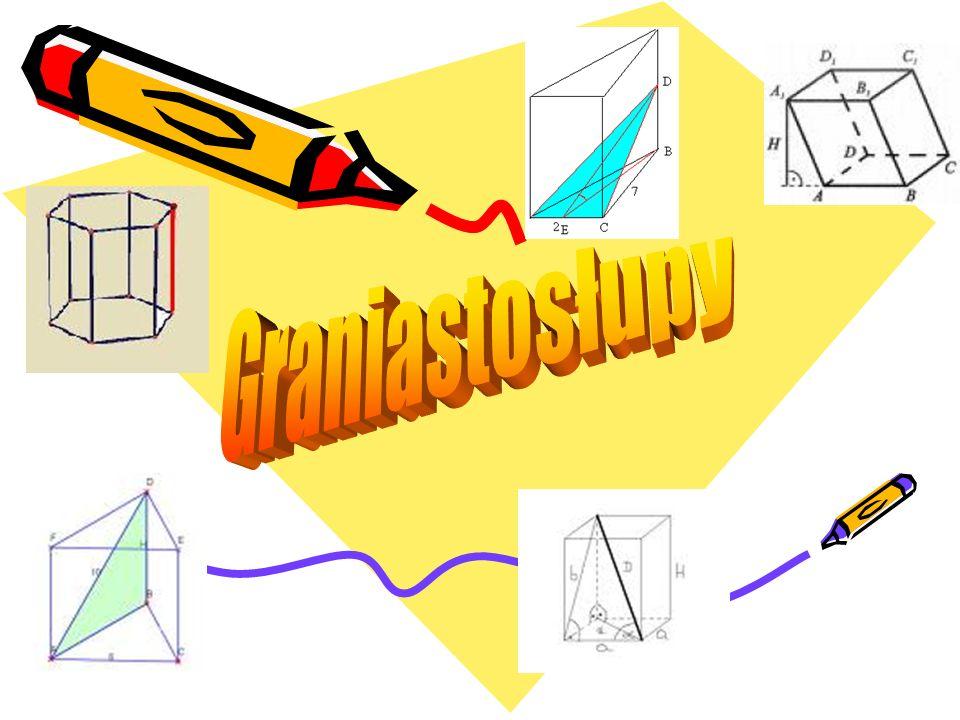 Spis treści 1.Definicje 2.Informacje wstępne 3.Rodzaje graniastosłupów 4.Wzory 5.Siatki graniastosłupów - przykłady