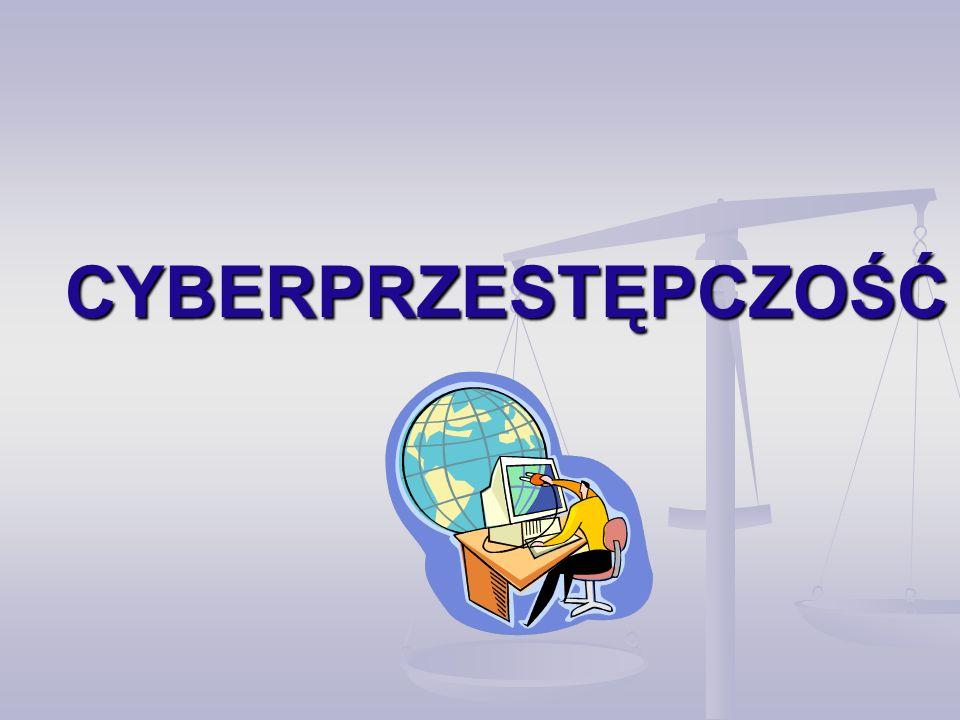 Formy przestępstw komputerowych Przestępstwa przeciwko ochronie informacji Przestępstwa przeciwko ochronie informacji Przestępstwa przeciwko mieniu Przestępstwa przeciwko mieniu Przestępstwa przeciwko bezpieczeństwu powszechnemu Przestępstwa przeciwko bezpieczeństwu powszechnemu Przestępstwa przeciwko Rzeczypospolitej Polskiej Przestępstwa przeciwko Rzeczypospolitej Polskiej Przestępstwa przeciwko wiarygodności dokumentów Przestępstwa przeciwko wiarygodności dokumentów