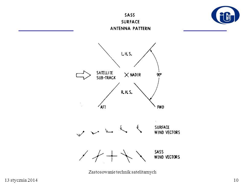 13 stycznia 201411 Zastosowanie technik satelitarnych SASS