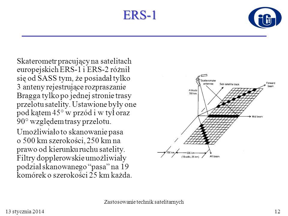 Geometria anten SASS (SEASAT)– A NSCAT (ADEOS-1) – B SeaWinds (QuikSCAT) – C SCAT (ERS 1 i 2) – D ASCAT (Metop)– E 13 stycznia 201413