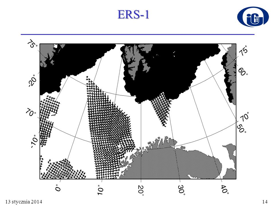13 stycznia 201415 Zastosowanie technik satelitarnych ERS-1