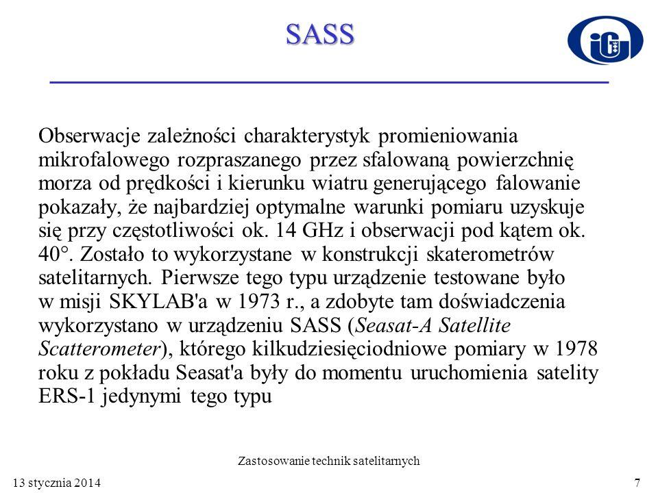 SASS SASS był urządzeniem radarowym pracującym na częstotliwości 14.6 GHz.