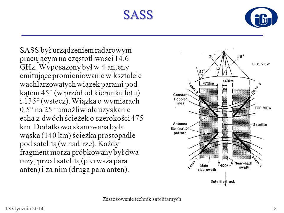 SASS 12 filtrów dopplerowskich dzieliło sygnał docierający do każdej anteny na dwanaście części odpowiadających komórkom o wymiarach ok.
